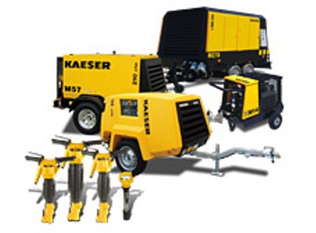 Portable Tow Behind Rotary Screw Diesel Air Compressors On