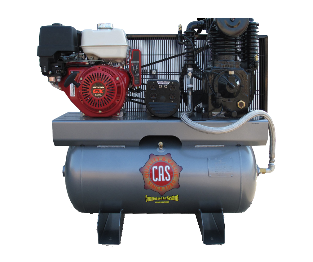 Reciprocating Air Compressors With Generator On Compressed