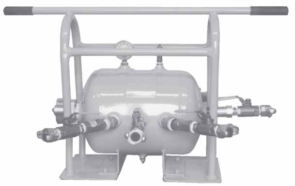 Air receiver manifold assembly on compressed systems inc