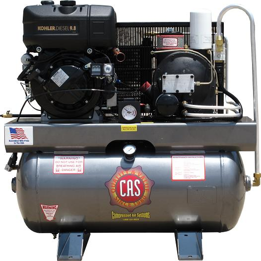 Cas Portable Rotary Screw Air Compressors On Compressed Air Systems Inc