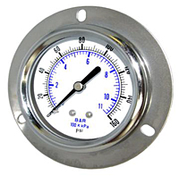 104D Front Flanged Panel Mount Utility Gauge