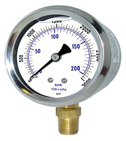 201L Liquid Filled Gauge