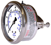 203L Panel Mount Liquid Filled Gauge