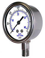 301LFW All Stainless Liquid Filled Gauge