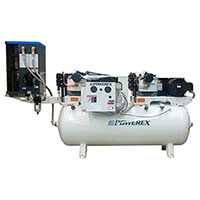7.5 Hp to 10hp tankmount Simplex w Refridgerated Dryer
