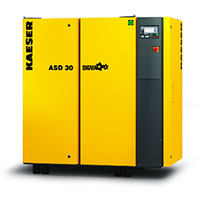 ASD Series Direct Drive Kaeser Rotary Screw Compressor 25HP - 40HP, 72CFM - 191CFM