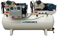 3 to 5 hp Scroll Tankmount Duplex Air Compressors with Refrigerated Dryer
