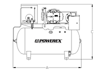 3 to 5 hp Scroll Tankmount Simplex Pumps with Refrigerated Dryer
