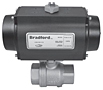 Pneumatically Actuated 2-Piece Stainless Steel Ball Valve