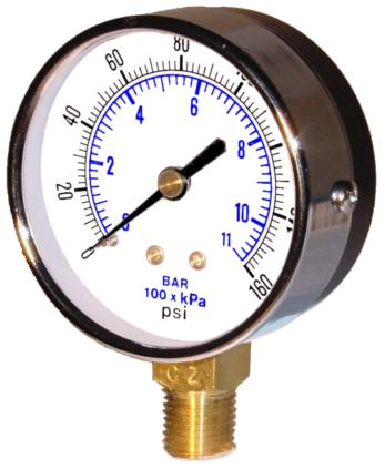 Item 101d 254k Bottom Mount Dry Utility Pressure Gauge