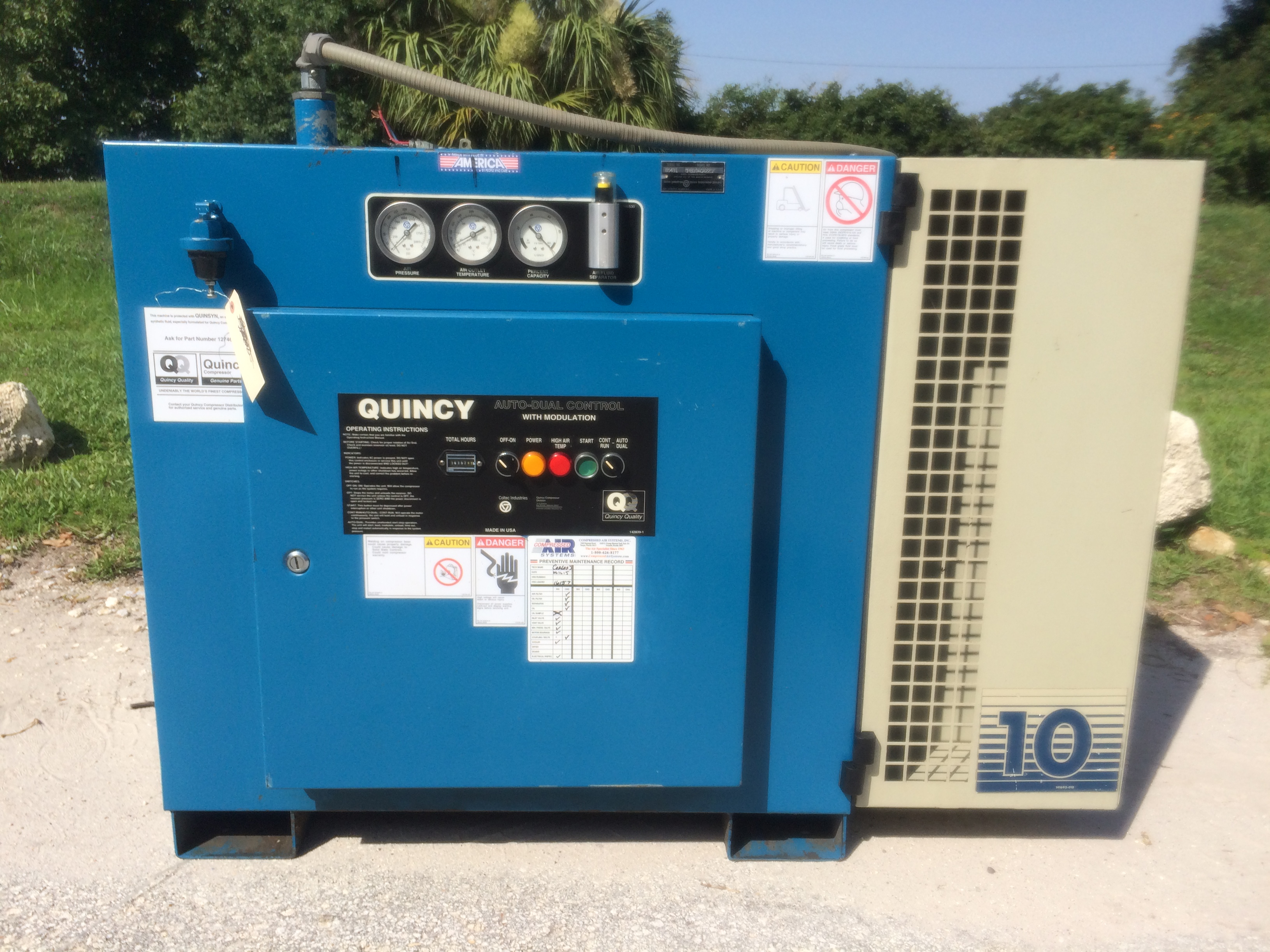 Used Rotary Vane Air Compressors On Compressed Air Systems