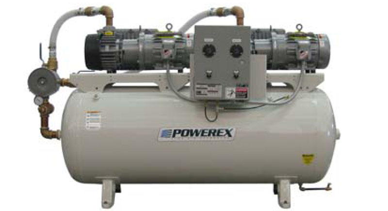 Industrial Vacuum Blower Systems : Item ivd scfm air flow model industrial