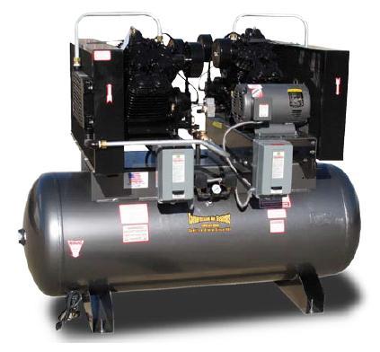 Cas Duplex 5 10hp Reciprocating Compressors On Compressed