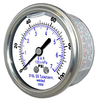 302LFW Center Back Mount All Stainless Steel Gauge