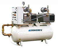 2 hp Pump Power and 42 in Height (C) Power Industrial Lubricated Rotary Vane Tankmount Duplex Vacuum System (IVD0203)