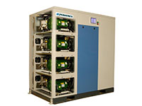 10 to 20, 30 and 40 hp Power Laboratory Scroll Enclosed Simplex and Duplex Air Compressors with Premium Controls