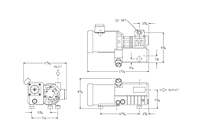 Dimensions - L12/21 Series Oil-Flooded Vacuum Pumps