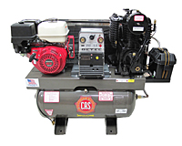 19 cfm Gas Engine Air Compressors with 5500 W Generator and 250 A Welder