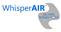 WhisperAIR™ Sound Enclosure Cabinet for Rotary Tooth Oil Free Air Compressors with Enclosure