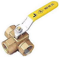 Brass 3-Way Diversion Ball Valve