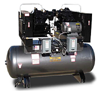 CAS Duplex 10hp Reciprocating Compressor