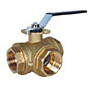 3-Way Diverting Brass Ball Valve