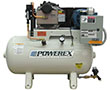 3 to 5 and 7.5 to 10 hp Scroll Tankmount Simplex Air Compressors