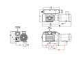 Dimensions - L25/40 Series Oil-Flooded Vacuum Pumps