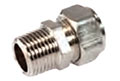 3/8 Inch (in) Size 1 National Pipe Thread (NPT) Fitting